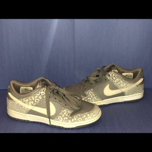 Grey cheetah Nikes